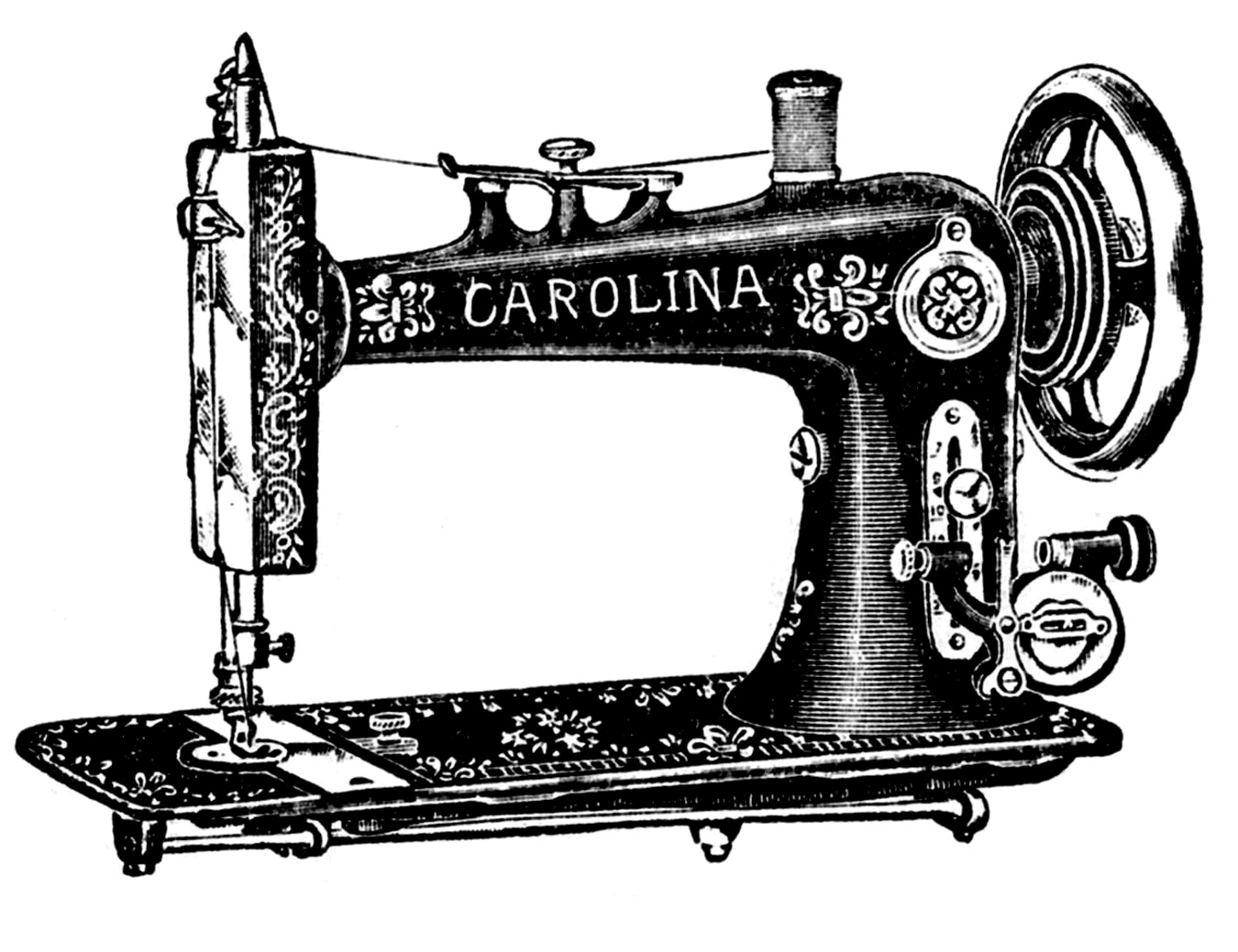 Machine Cartoon Sewing Vintage