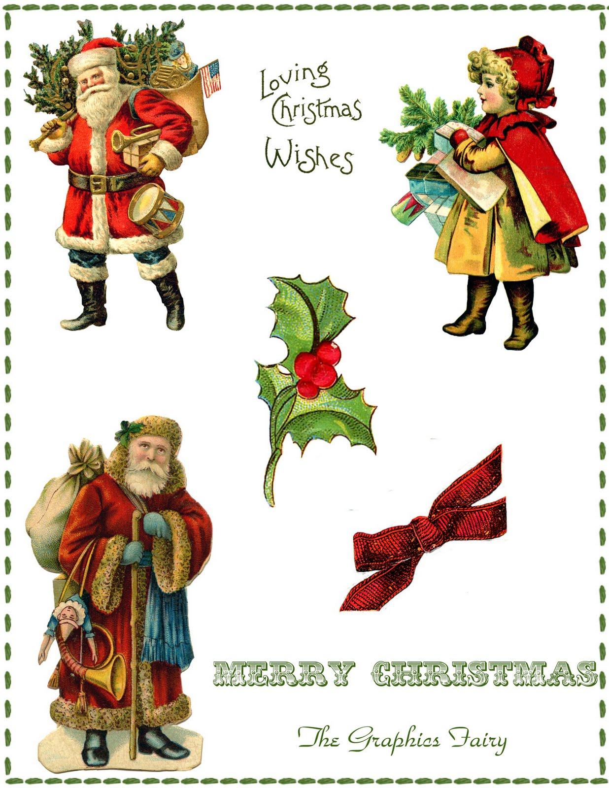 Vintage Christmas Collage Printable