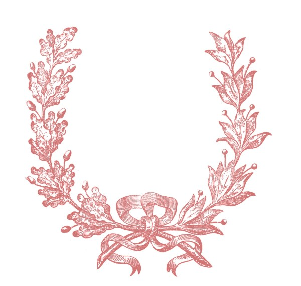 Vintage Clip Art - French Wreath Engraving - The Graphics ...