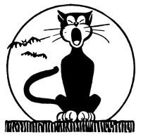 halloween clip art black cat