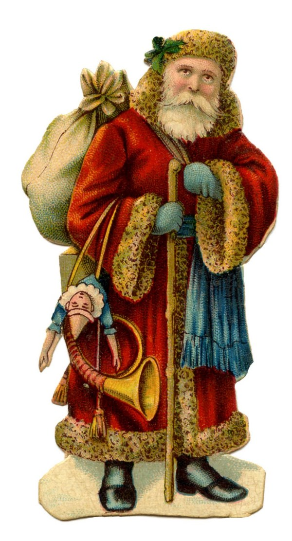 Victorian Christmas Clip Art - Old World Santa - The ...