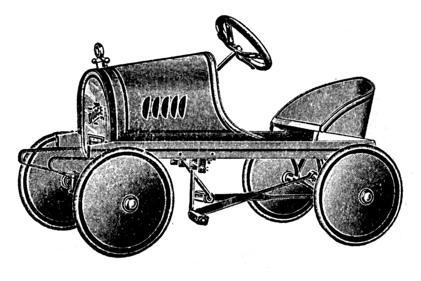 Vintage Clip Art Transportation Toys Scooter Etc The