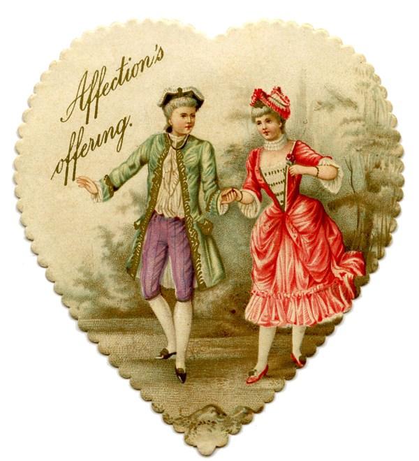 Vintage Valentine Printable - Heart Garland with Cupids ...