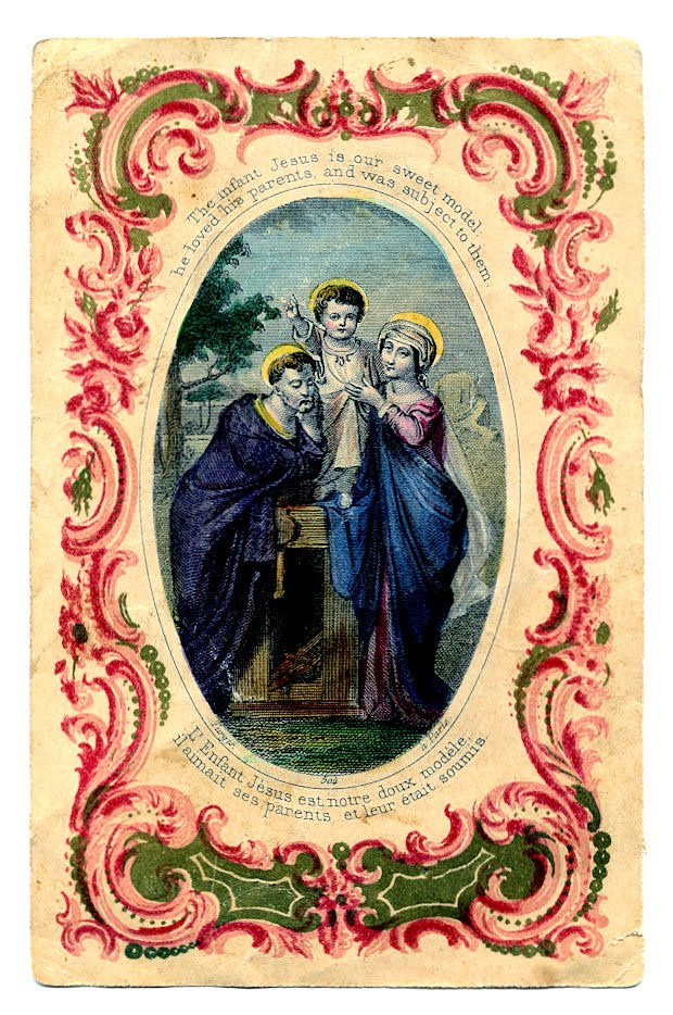 Free Vintage Clip Art French Holy Card The Graphics Fairy