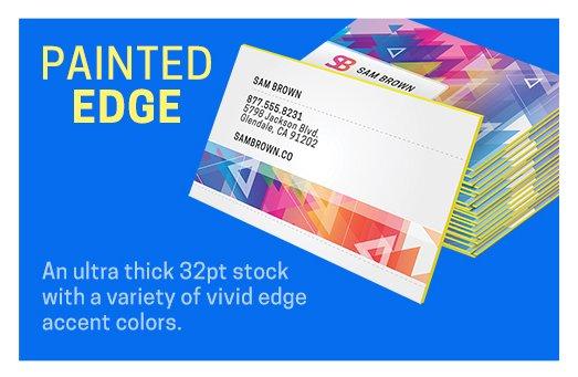Painted Edge Printing