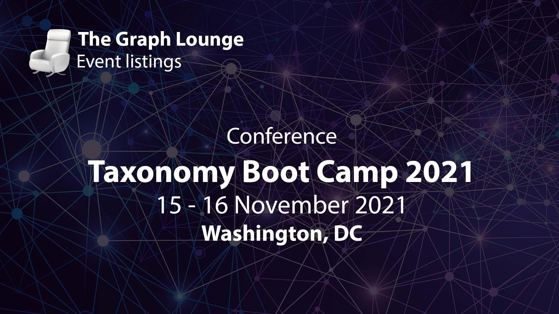 Taxonomy Bootcamp 2021 Washington, DC