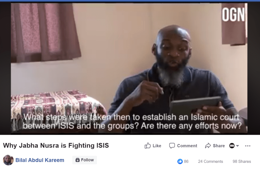 Bilal Abdul Kareem Abu Firas ISIS court