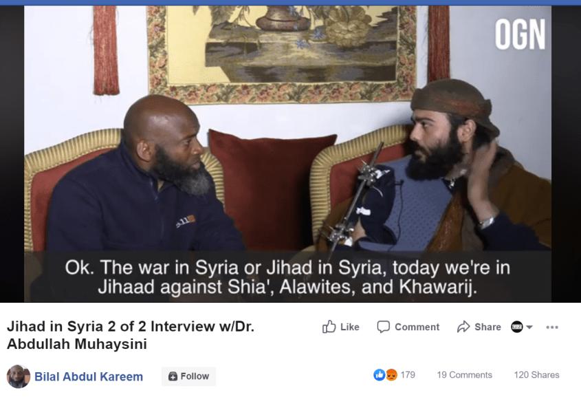 Bilal Abdul Kareem Muhaysini Jihad Shia