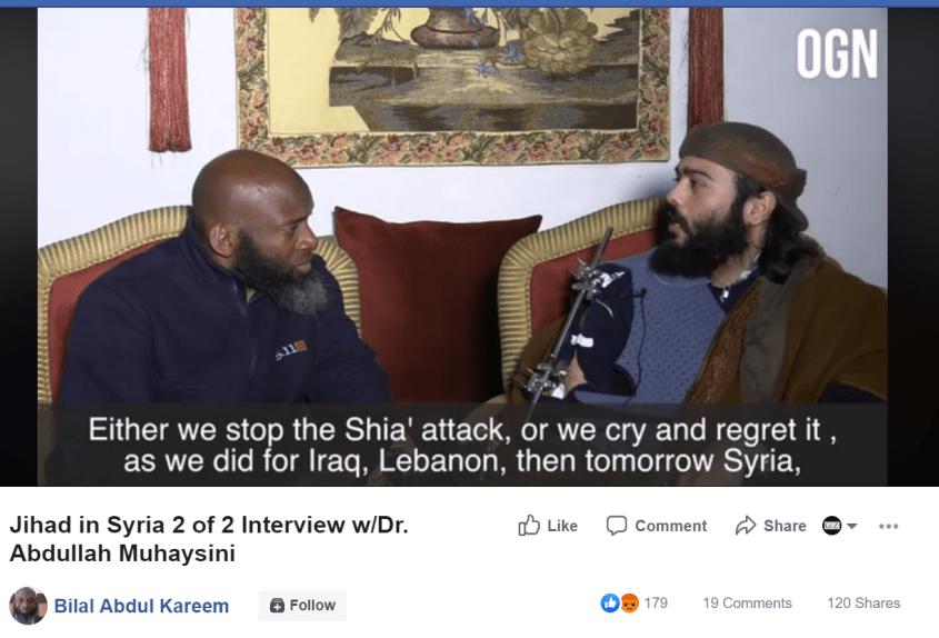 Bilal Abdul Kareem Muhaysini Shia