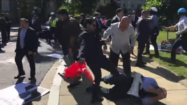 Erdogan protesters DC