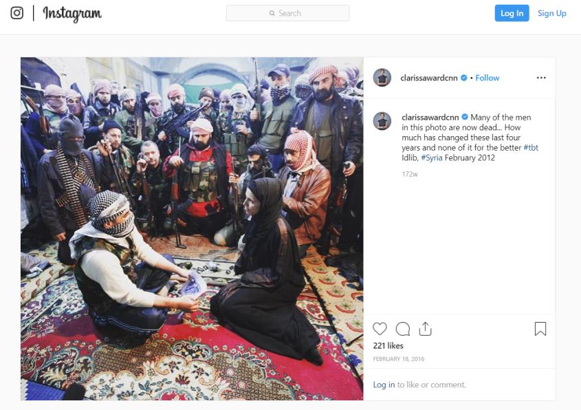 Clarissa Ward Idlib Syria Instagram