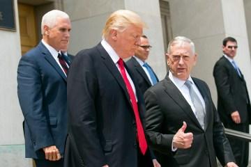 Trump Mattis Pence