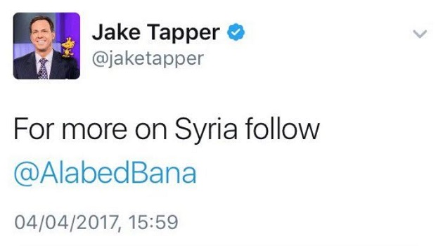 Jake Tapper Twitter Bana Alabed