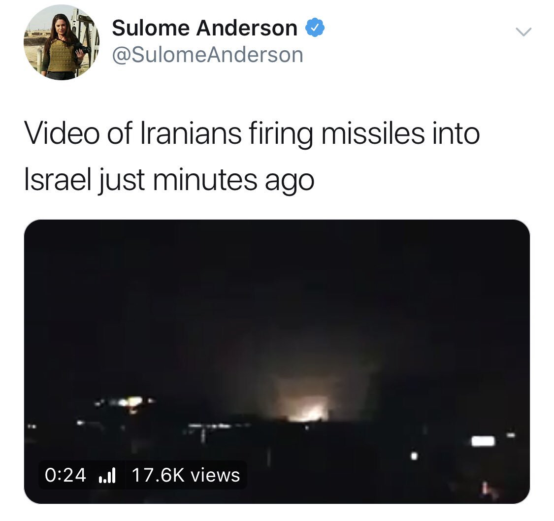 sulome anderson video iranians firing missiles