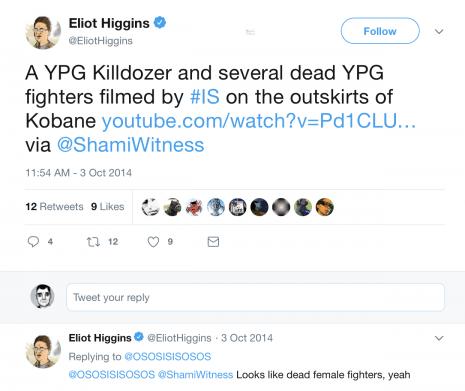Eliot Higgins ShamiWitness YPG