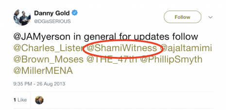 danny gold shamiwitness follow