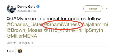 danny gold shamiwitness follow