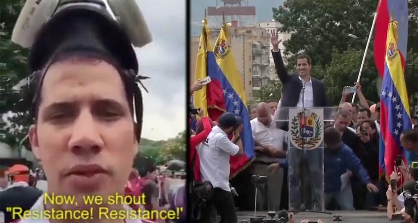 Juan Guaidó US regime change training