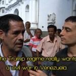 Aaron Venezuela protest Trump