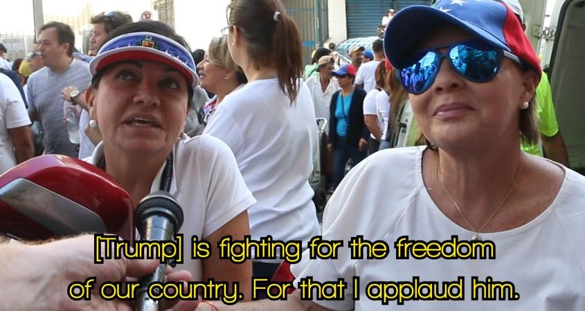 Opposition march Caracas Venezuela