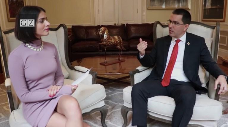 Anya Parampil interview Jorge Arreaza
