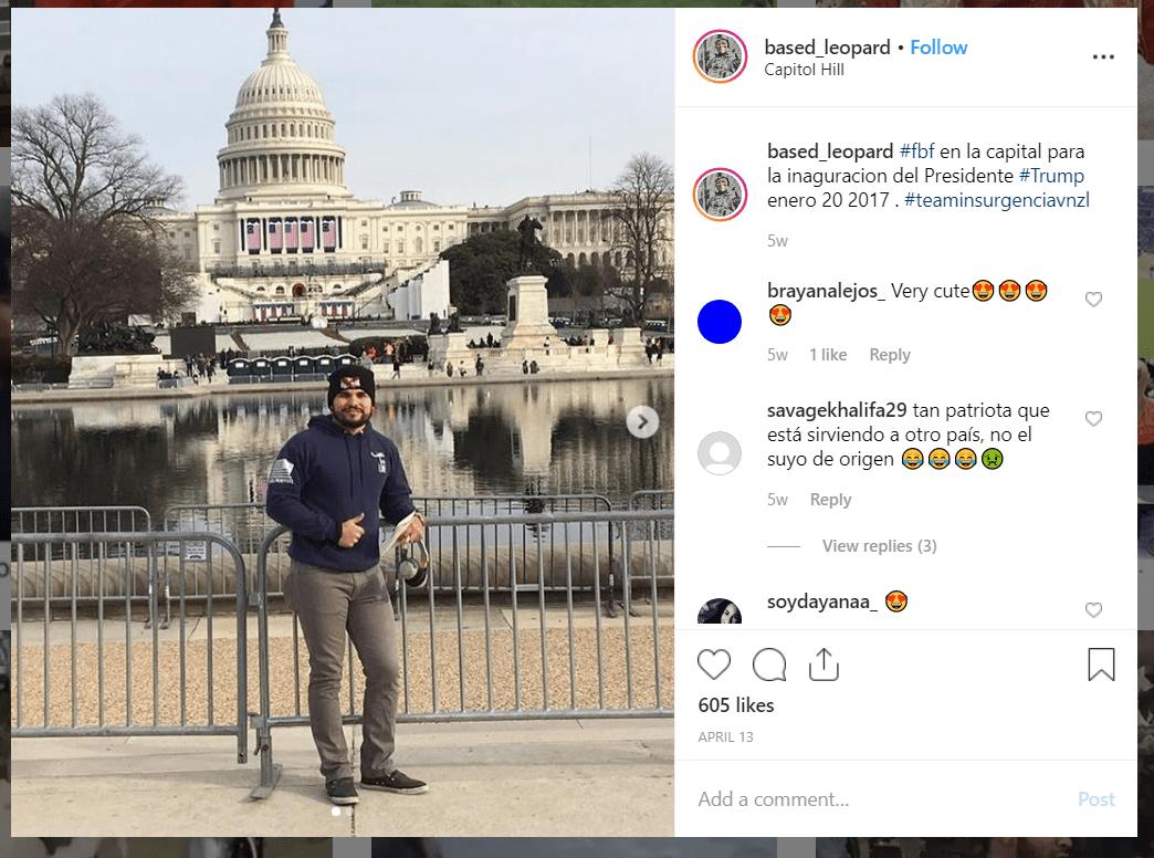 Luis Medina Instagram Trump inauguration