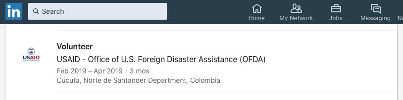 Luis Medina LinkedIn USAID