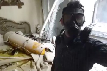 Douma gas attack mask