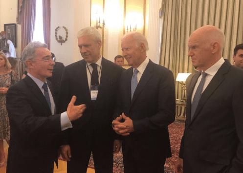 Biden and Uribe