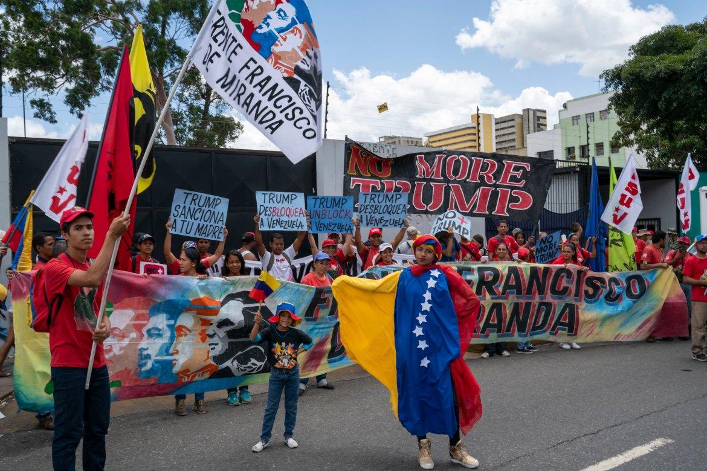 Venezuela no more Trump protest FFM