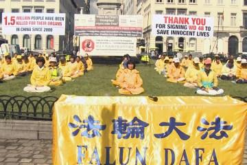 Falun Gong protest European Parliament 2016