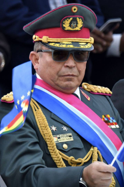 General Williams Kaliman, head of Bolivia's military
