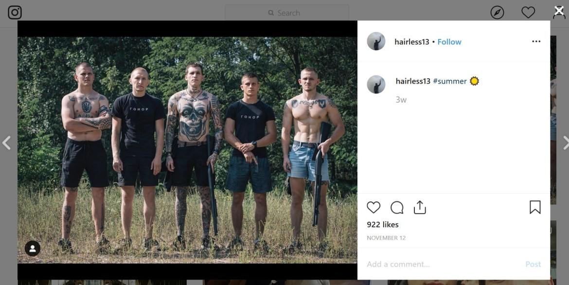 Serhii Filimonov Instagram guns