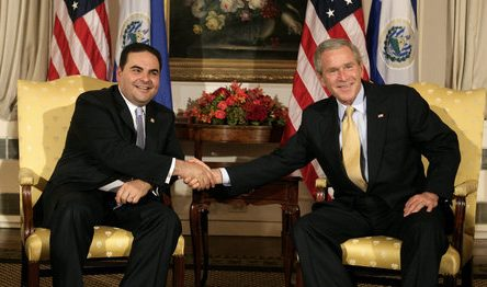 El Salvador Tony Saca George Bush