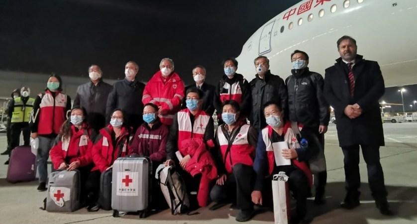 Chinese doctors Italy coronavirus