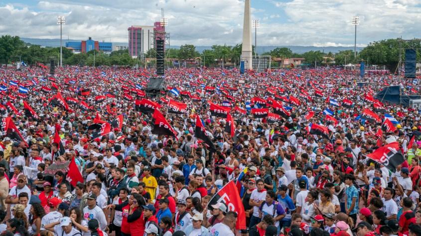 Nicaragua Sandinista Revolution 40 anniversary plaza
