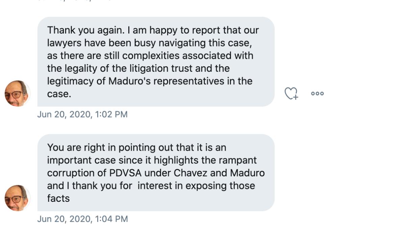 Luis A. Pacheco corruption Twitter message