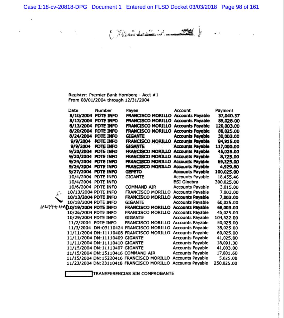 PDVSA corruption bribery payments