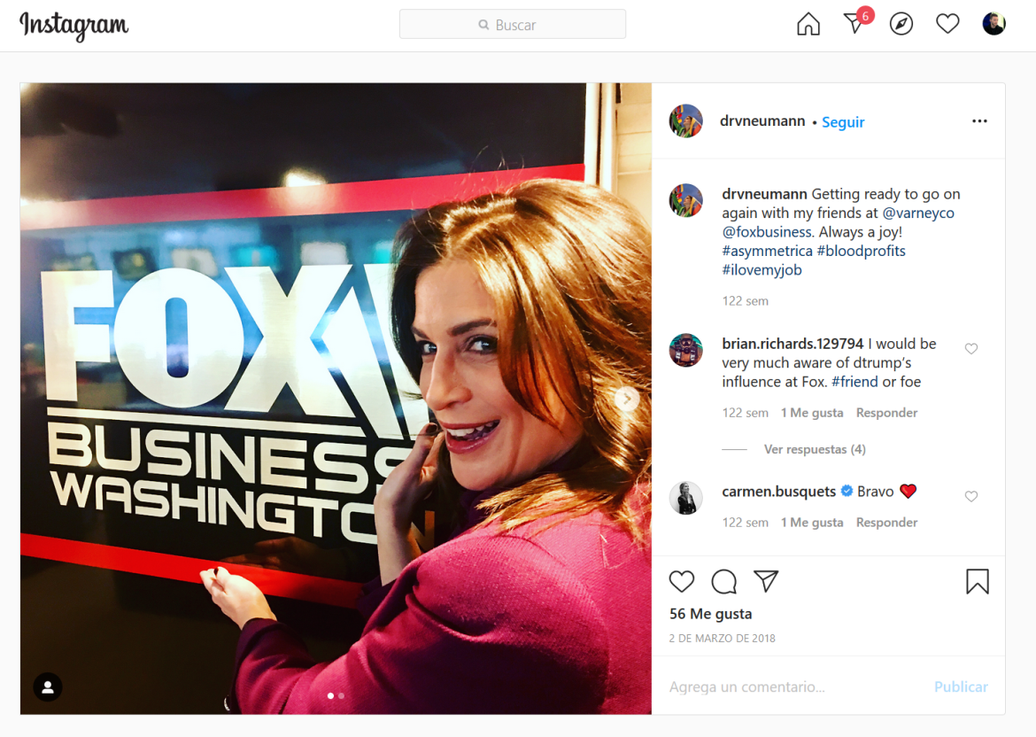 Vanessa Neumann Fox News Instagram