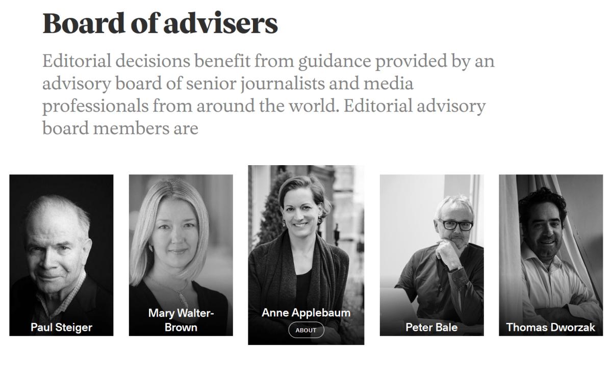 Coda Story Anne Applebaum board of advisors