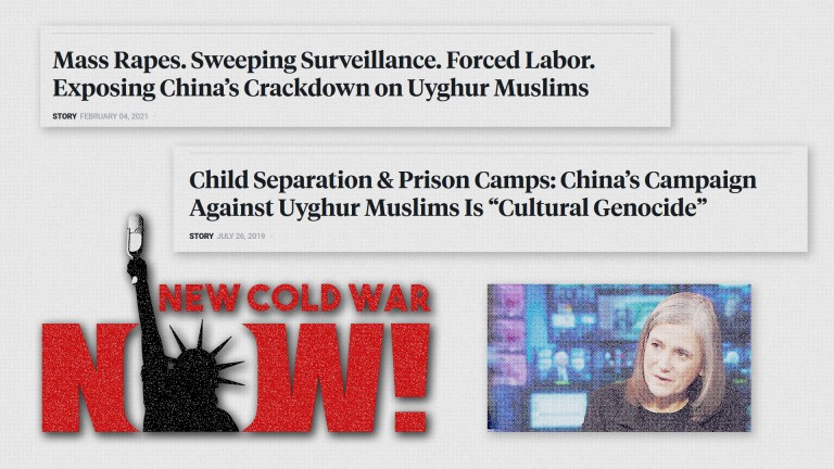 Democracy Now China propaganda cold war