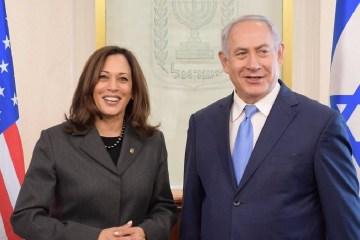 Kamala Harris Israel Netanyahu