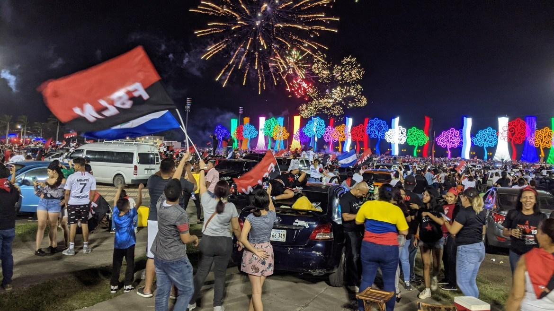 Sandinista anniversary July 18 2021 plaza la fe