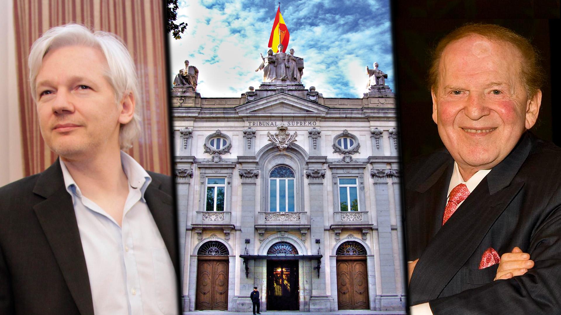 Spanish court Julian Assange Sheldon Adelson spying