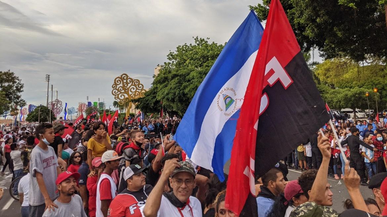 nicaragua july 19 2021 avenida bolivar crowd
