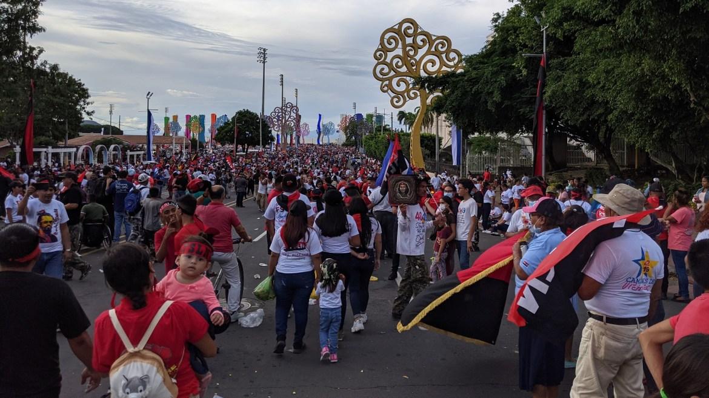 nicaragua july 19 2021 avenida bolivar