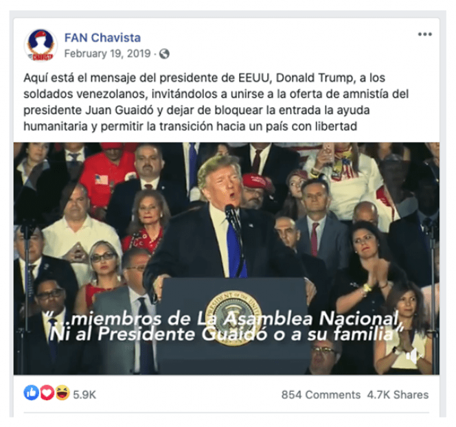 CLS Strategies Venezuela propaganda Chavista Guaido