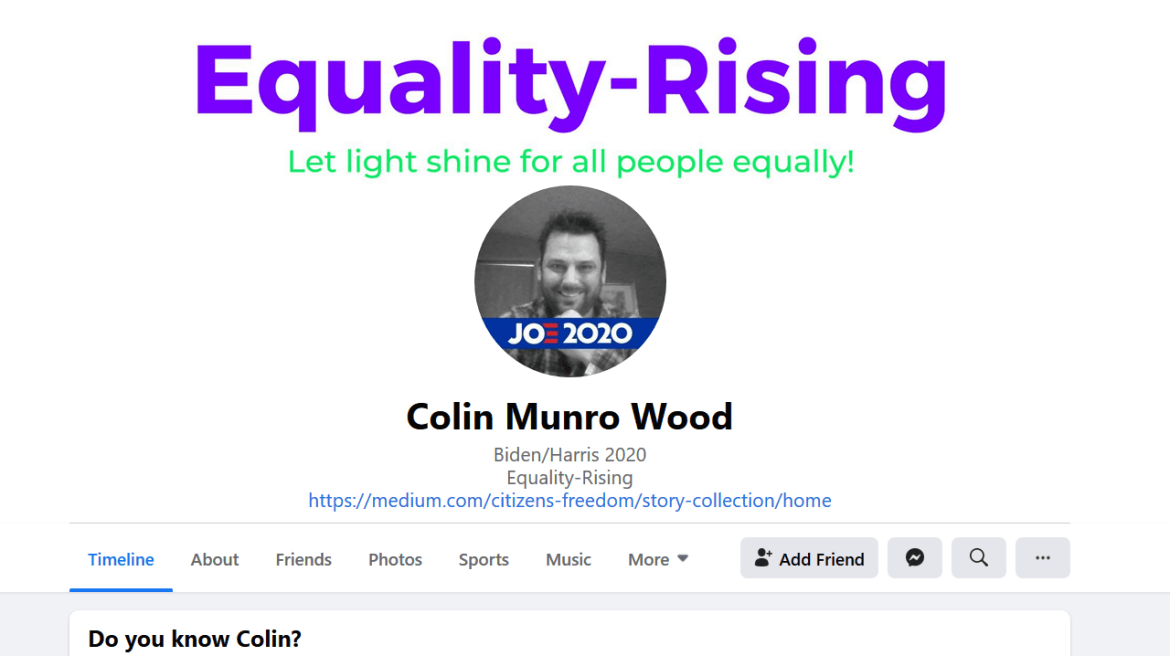 Colin Munro Wood Facebook Biden