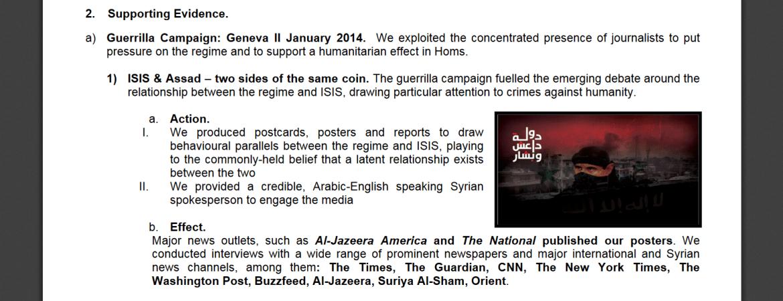 InCoStrat syrische Oppositionsmedien Assad ISIS