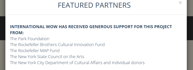 Josh Fox International WOW funding foundations